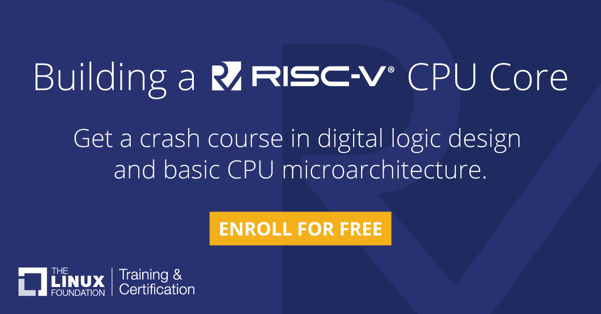 Introduction to RISC-V (LFD110x)