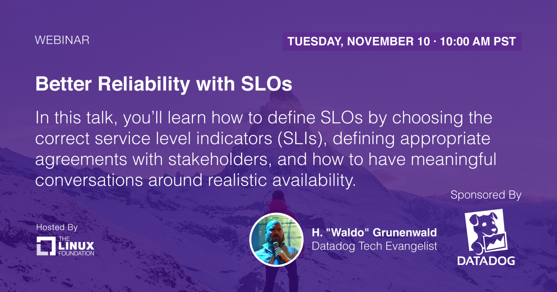 Webinar - Better Reliability with Service Level Objectives