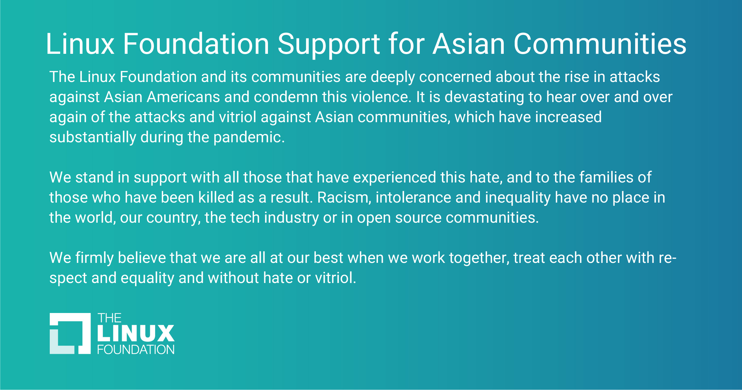 Linux Foundation Support for Asian Communities