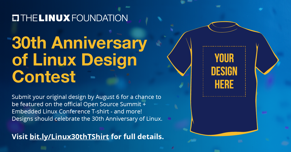 Design a 30th Anniversary of Linux T-Shirt