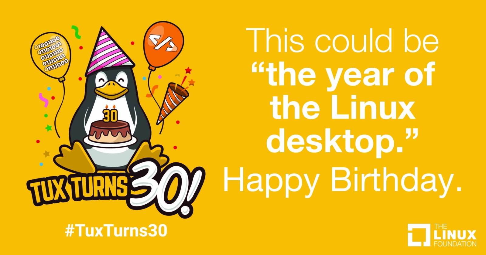 Tux Turns 30 - Social Snackable